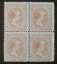 Philippines stamp #166 block of 4 Spain Colony stamp mint never  hinged OG.