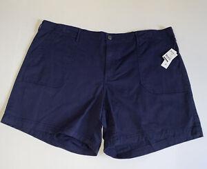 Jeanstar womens shorts size 20W plus utility blue *has a frabric run*