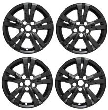 "2010-2016 Chevy EQUINOX 17"" BLACK Wheel Skins Hubcaps Covers Alloy Wheels SET"