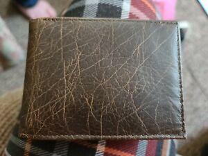 George Genuine American Bison Leather Bi-fold Wallet