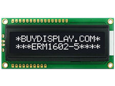 3.3V Serial SPI 16x2 White on Black Character LCD Display Module w/Tutorial