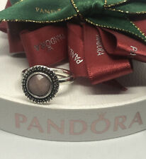 Pandora Marcasite Faceted Pink Opal Ring Size 50 Authentic Ale Retired 190617POP