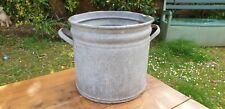 Genuine Vintage Galvanised Round Tub. Tree Garden Herb Planter, Container #119