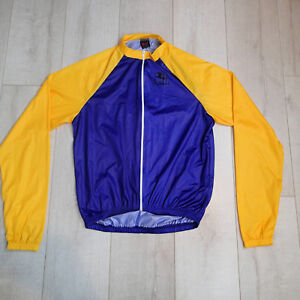 Men's  Giordano windbraker Cycling Jacket blue yellow lightweight sz m 48 w5