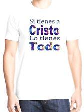 Christian white T-shirt Si tienes a Cristo lo tienes Todo-Medium