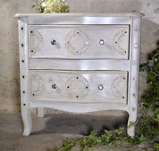 Kommode Schubladen Nachtisch Massivholz Provence Massiv Landhaus Weiss Royal Ind