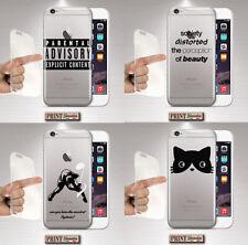 Cover per,Iphone,minimalista,frasi,silicone,morbido,TRASPARENTE,tumblr,gatto