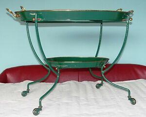 Rarer Vintage Servierwagen Anbieter Tablett Barwagen Teewagen 50er 60er Jahre !