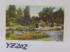 VINTAGE POSTED POSTCARD STAMP 1916 SCENE IN BENTON PARK ST LOUIS MISSOURI MO.