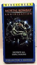 Mortal Kombat - Annihilation VHS, 1998 Widescreen, Collector's Edition