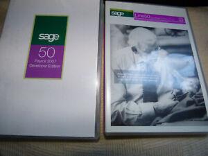 Sage Line 50 developer and payroll 2007