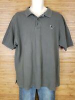 The Black Dog Marthas Vineyard Gray Polo Shirt Mens Size XL 100% Cotton EUC