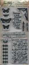 TIM HOLTZ STAMPERS ANONYMOUS Cling Rubber Stamp BUTTERFLY MELANGE New Release!