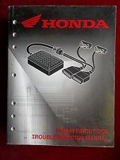 Honda PGM-FI PINOUT BOX Original Trouble Shooting Manual 1734