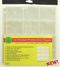 30 pages (THREE PACKS) of Unigrade 12 pocket pages for 2 1/2 x 2 1/2,or ICCS.