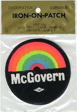 1972 George McGovern Cloth Iron-On Campaign Patch in Original Packaging (4781)