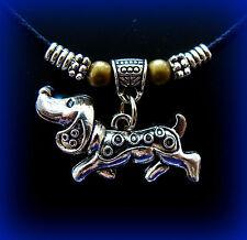Doxie Dachshund Dog Jewelry PENDANT - Weiner Sausage Puppy Pup