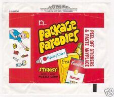 (4) 2000 Wacky Package Parodies 1st Series 1 Complete Wrapper Variations Set