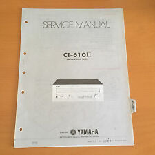 Yamaha CT-610II Tuner Repair Service Manual & Schematics Factory Original! Rare