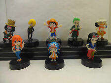 One piece - 2 ans plus tard manga-anime cake topper figures set of 6 brand new