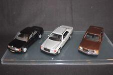 Cursor / NZG Mercedes-Benz set of 3 models 1:35 190E / W124 CE / W126 SEC (JS)