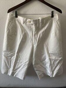 NWT BRIONI 'Bermuda' White Cotton Shorts (Eu 52)