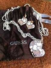 """GUESS PARURE COEUR Collier & Boucles - SET Necklace & Pierced Earrings 'HEART""""."""
