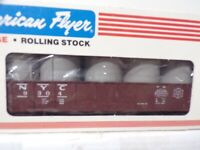 AMERICAN FLYER S GAUGE MINT 4-9304 NEW TORK CENTRAL GONDOLA WITH/ CANNISTERS