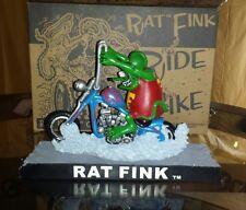 Very Rare Rat Fink Fever Rat Fink on Chopper figure Mooneyes Rat Fink Japan Excl