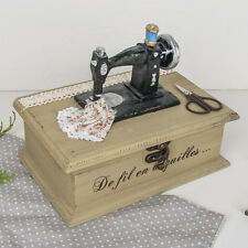 Wooden Sewing Box With Vintage Sewing Machine Design by Dibor