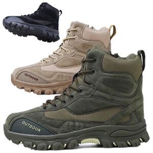 Men's Desert Army Combat Boots Tactical Military Work Jungle Adventure Zha19