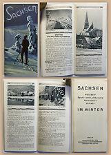 Prospekt Reisebroschüre Sachsen im Winter 1929 Reisen Luftkurorte Heilbäder xz