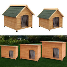 Floor Elevated Large Dog Kennel House Pet Run Insulated Warming Animal Shelter