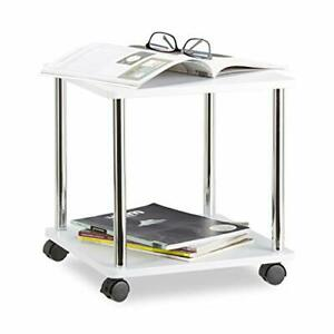 Relaxdays Wooden Side Table, Multipurpose Cart on 4 Castors, Small Coffee Table