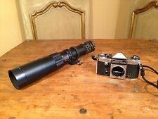 German Spy Film Camera Hanimak Praktica Super Camera Astranar 400mm Zoom Lens