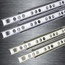 Schubladenschienen EDELSTAHL Schubladenauszug Teleskopschienen Stahl Teilauszug