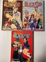 Black Cat, Manga  Lot of 3,  Vol 1,2 & 3, by  Kentaro  Yabuki, Very Good