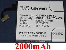 Batterie 2000mAh type BP-4GW Pour Nokia Lumia 920 4G