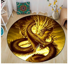 Golden Sky Dragon Rug Carpet 100 x 100CM mat