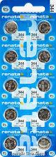 10 Pc 344 Renata Watch Batteries SR1136SW Accutron 0% MERCURY