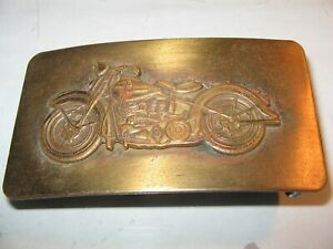 Vintage Indian Motorcycles  Solid Brass  Belt Buckle