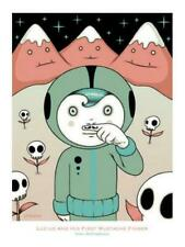 LUCIUS AND HIS FIRST MUSTACHE FINGER POSTCARD BY TARA MCPHERSON