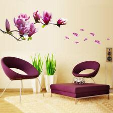 Wandtattoo Magnolie Blumen Magnolia Wandaufkleber Wand stickers Wohnzimmer Hot~