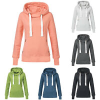 Womens Casual Hoodies Sweatshirt Ladies Hooded Long Sleeve Tops Jumper Pullover