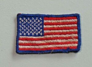 """Vtg United States Flag Patch Embroidered Stars and Stripes Used 2 1/2"""" Wide 7964"""
