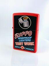 Zippo Feuerzeug DeAgostini -Canada -Rot/Schwarz - Neu-Benzin Sturmfeuerzeug