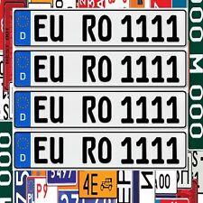 4 x  EU KFZ Nummernschilder Autoschilder Kennzeichen ALLE AUTOMARKEN