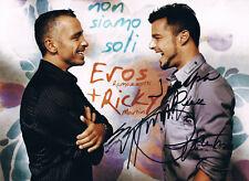 """Eros Ramazzotti & Ricky Martin genuine autograph 8""""x12"""" photo signed In Person"""
