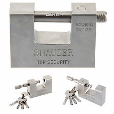 95mm Super Heavy Duty Shipping Container Garage Warehouse Padlock Chain Lock UK