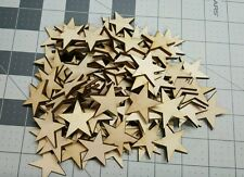Crafting Supplies  100 pcs. Laser cut wooden stars 3/4